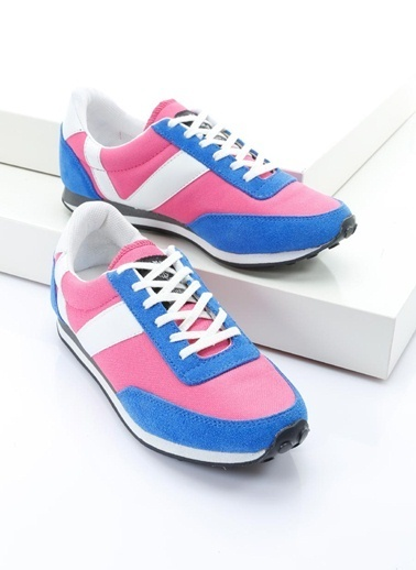 19V69 Italia %100 Deri Casual Ayakkabı Pembe